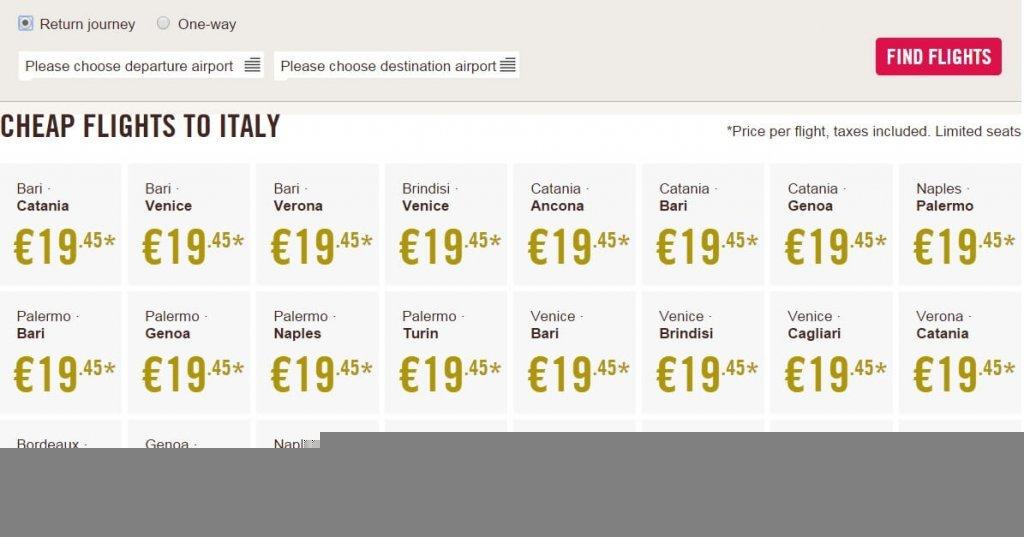 Путешествия по Италии - это дешево