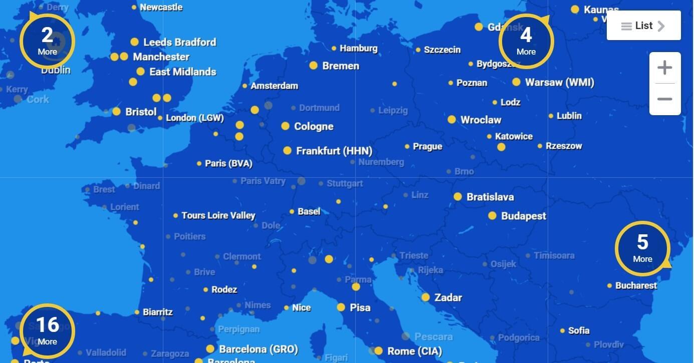 Лоукостеры Европы - RyanAir