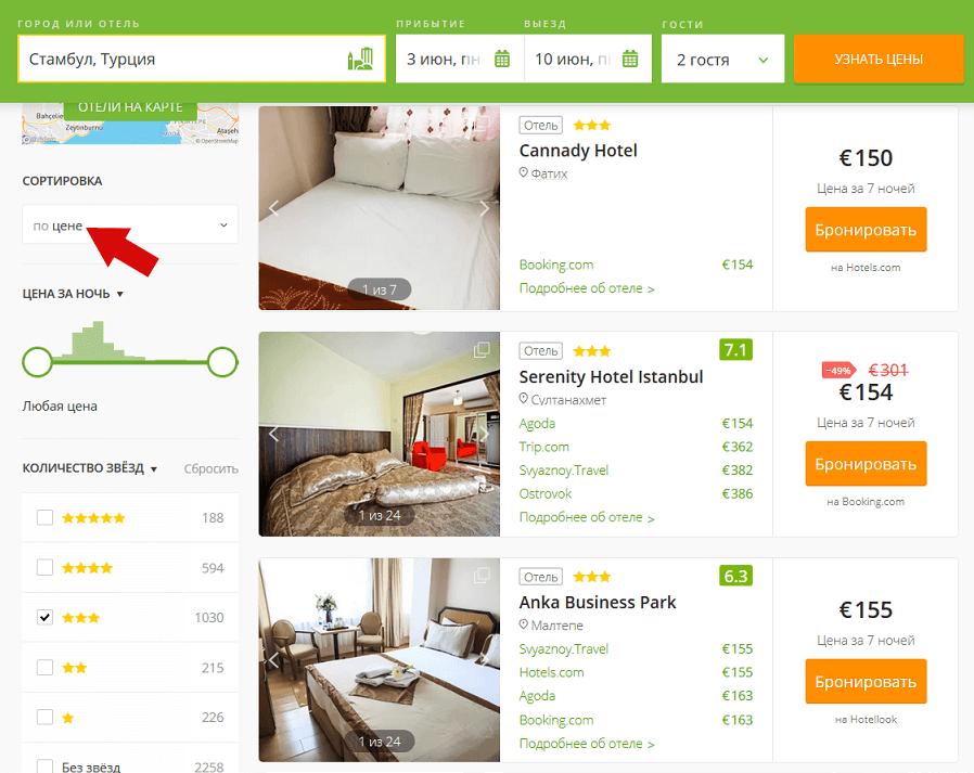 Лоукост в Турцию - жильё