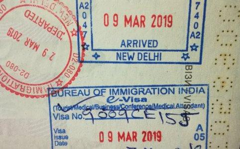 Онлайн виза в Индию