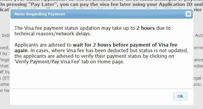 Индийская виза оплата