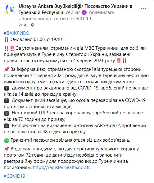 Новые правила въезда для украинцев с 4.06